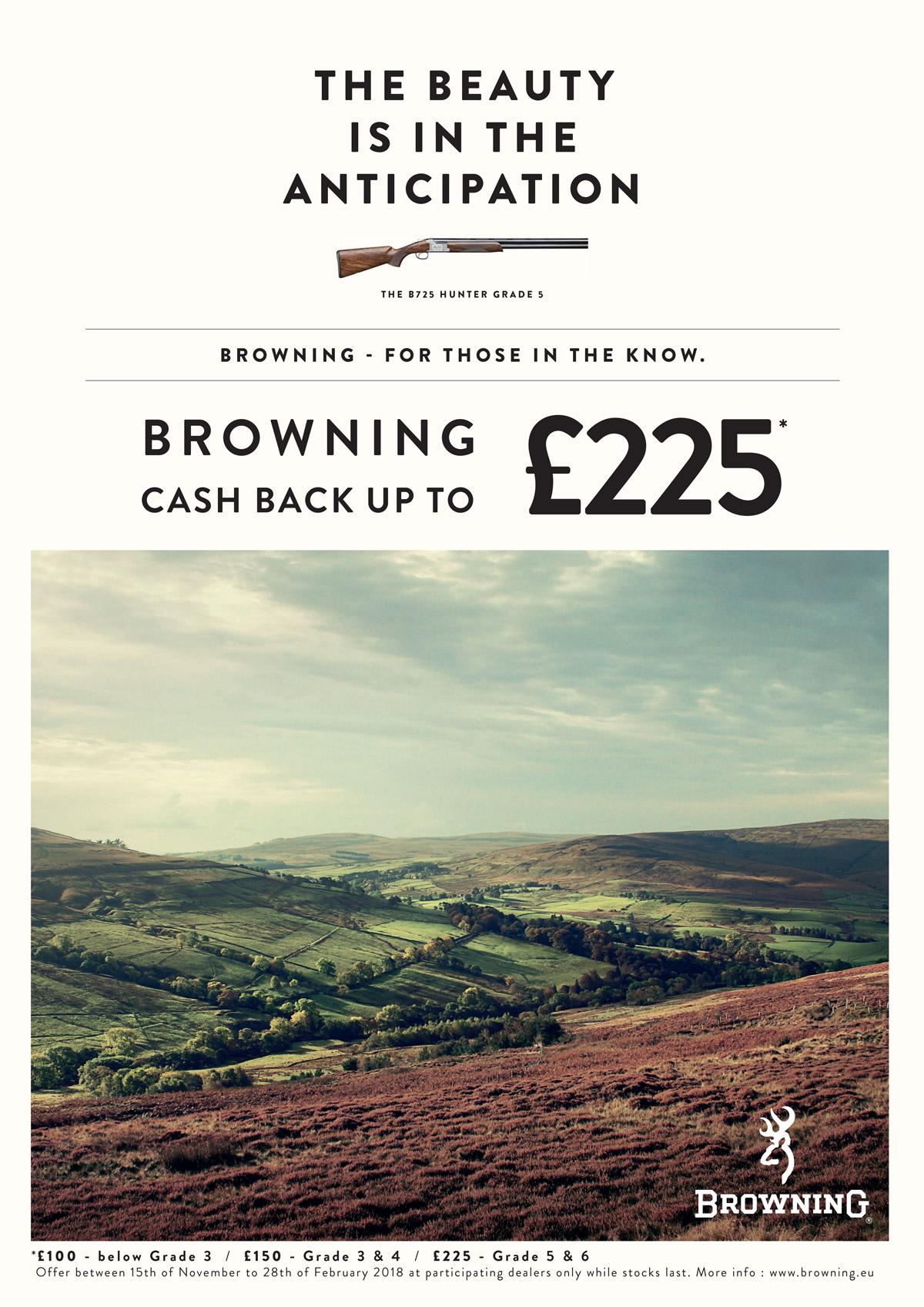 cash back over under £225 uk