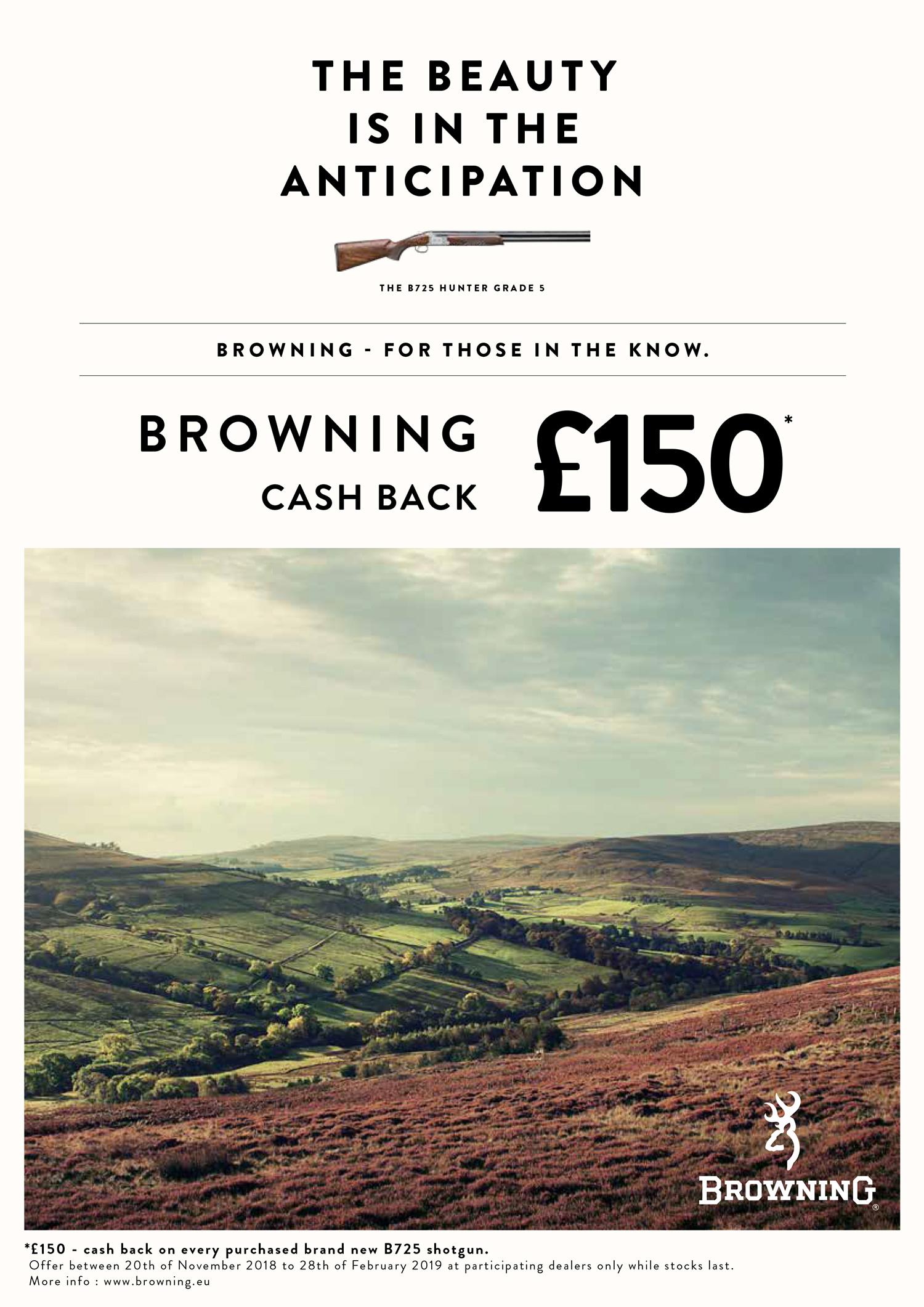 cash back over under £150 UK